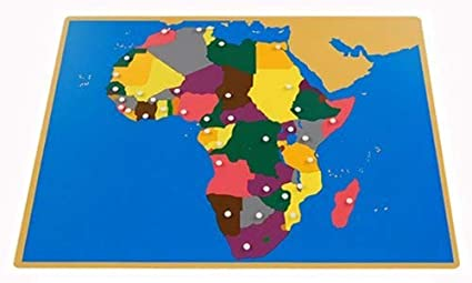 Map Of Africa Labeled.Buy Montessori Africa Puzzle Map With Labeled And Unlabeled Control