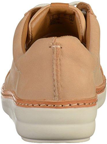 Clarks Damen Amberlee Rosa Sneaker Nude Nubuck