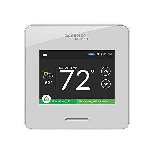 Schneider Electric Wiser Air Wi-Fi Smart Thermostat with Comfort Boost, White by Schneider Electric