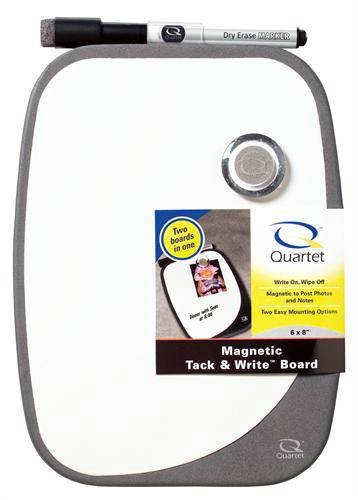 Quartet Tack - Quartet Magnetic Tack and Write Dry Erase Board, 9 x 11 Inches, Includes Hardware and Marker, Graphite (GT911)