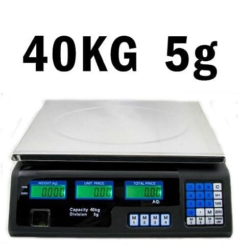 Precio Rastrillo Báscula (40 kg/5 G) Acero Inoxidable Báscula con Pantalla LCD