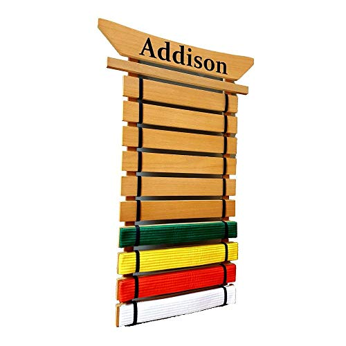 RenKata Personalized Asian Top Martial Arts Belt Holder - 10 Level
