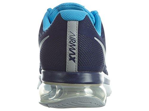 Nike Mens Air Max Excellerate 5 Scarpa Da Corsa Leale Blu / Argento Metallizzato
