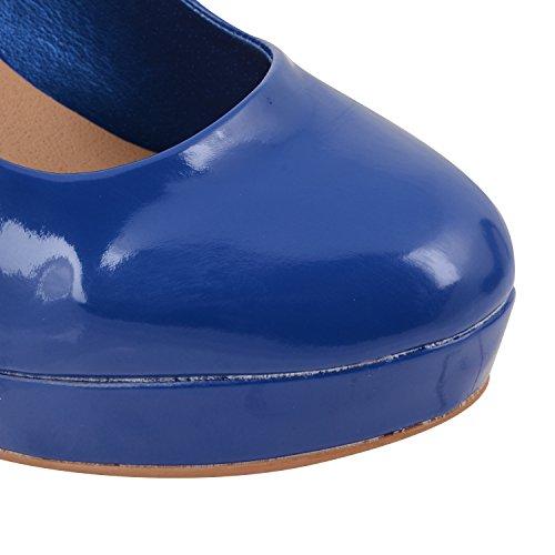 Incluye protector de pantalla Dolcis bombas traje de neopreno para mujer de fiesta para mujer con plataforma zapatos de pista de tacón de talla charol azul - azul