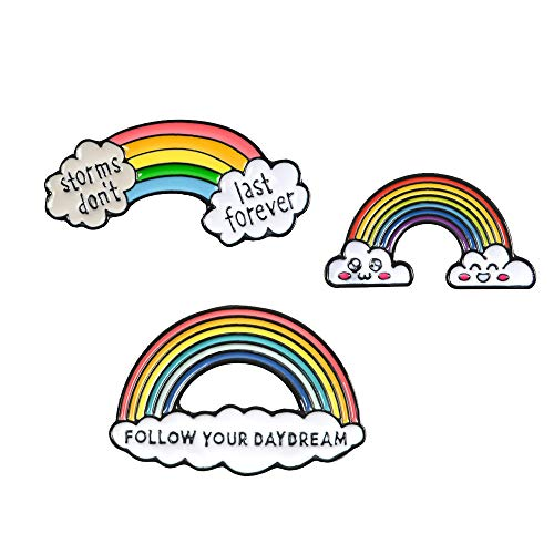 - Wgg Rainbow Lapel Pin, Fashion Cartoon Enamel Brooch Pins Badge Set for Bags Backpacks Jackets Denim Shirt Collar Gifts(3Pcs)