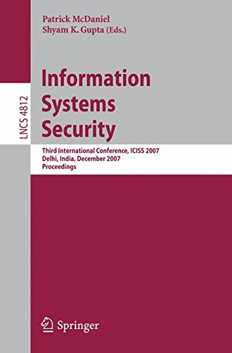 information systems security third international conference