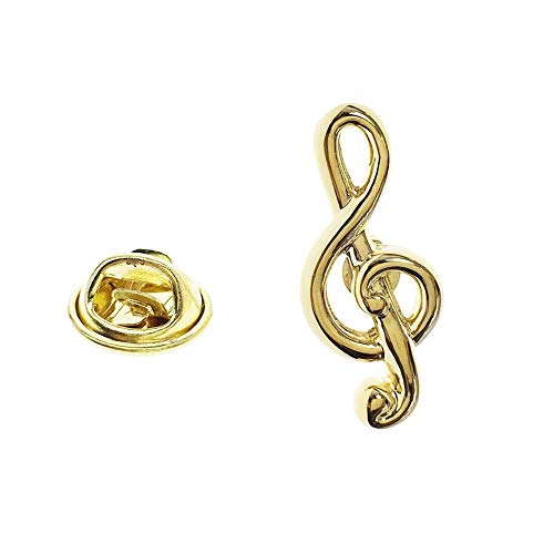 - Cuff-Arts Lapel Pin Music Gold Treble Clef Lapel Pin Badges with a Gift Box P10228