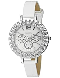 Geneva Women's FMDJT104A Analog Display Japanese Quartz White Watch