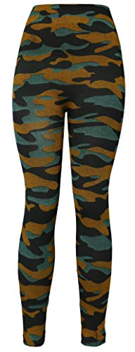 KMystic Women's Denim Print Fake Jeans Leggings (Army) ()