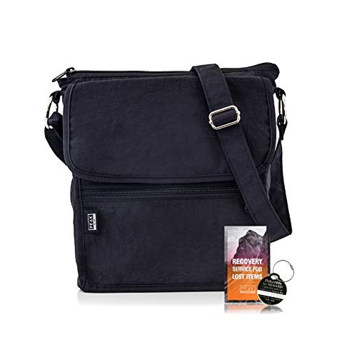 Active Crossbody Purse - Hidden RFID Pocket - Includes Lifetime Lost & Found ID