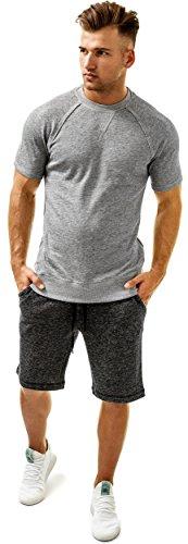 T Gris 2 ist shirt x Homme Différentes En Shirt Couleurs Crew Neck xqwtZq