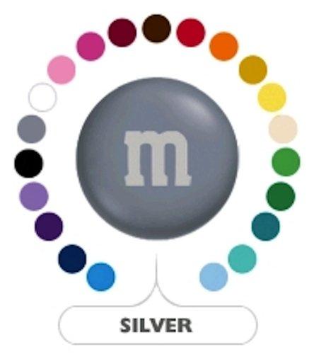M&M's Silver Milk Chocolate Candy 1LB -