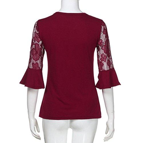 Mujer Poliéster de Rojo Damen SANFASHION Shirt144 SANFASHION Bekleidung Bailarinas Para x68gwUWn