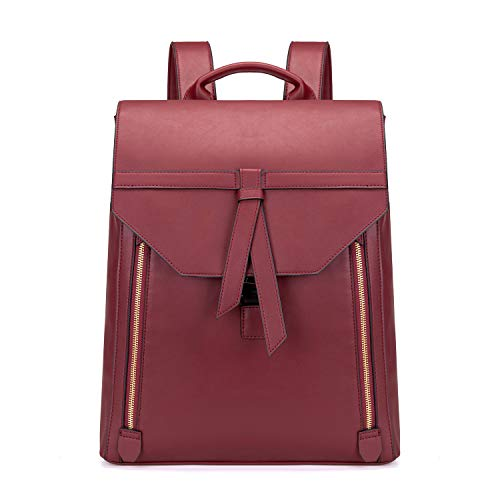 Estarer Women Fashion Leather Backpack for Travel Work College 15.6inch Ladies PU Leather Backpack