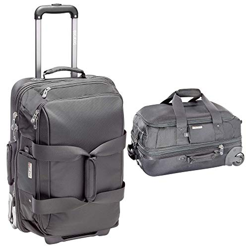 ECBC 26 Inch Falcon Rolling Duffle   Modern Business Travel Carry On & Weekender Bag (Grey)