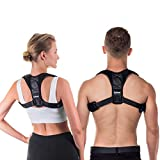 QuPeek Posture Corrector Back Support Brace for Men and Women - Improves Posture, Prevents Slouching and Hunching, Reliefs Upper Back and Neck Pain - Adjustable and Comfortable with Underarm Pads