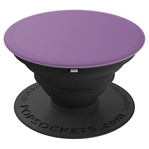 Heather (faded purple, dark lilac) Color Solid Hue Plain - PopSockets Grip and Stand for Phones and Tablets