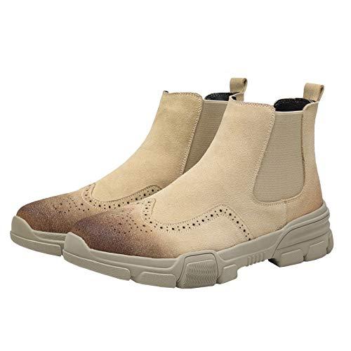 Bullock Chelsea Stivali di Pelle in Pelle Martin Stivali da Uomo Brown