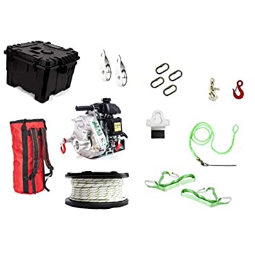 Portable Winch PCW5000-HK Gas-Powered Portable Capstan Winch Hunting Kit