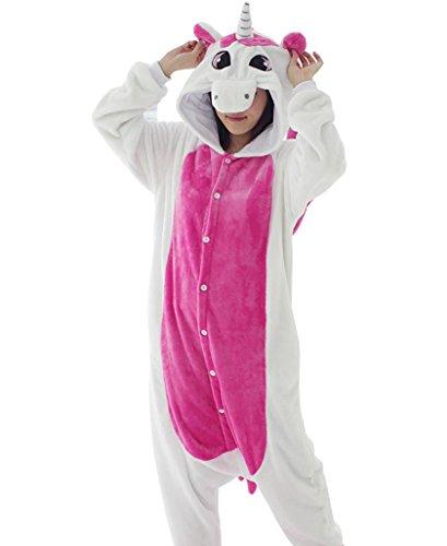 Adstry Cosplay Kigurumi Pajamas Sleepwear Costume Homewear Lounge Wear 03 Pink XL (Where Can I Get Cheap Halloween Costumes)