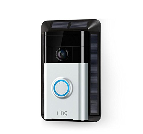 Solar power source and secure mounting bracket for the original Ring Video Doorbell by Ring Inc.