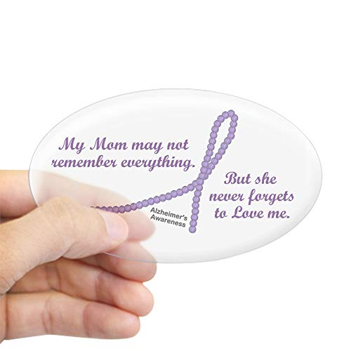 CafePress Never Forgets to Love (Mom) Oval Sticker Oval Bumper Sticker, Euro Oval Car Decal