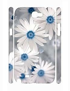 Hybrid Beautiful Flower Print Hard Plastic Samsung Galaxy Note 2 N7100 Cover Case Kimberly Kurzendoerfer