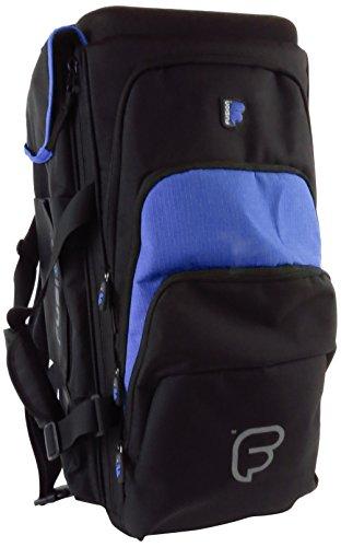 Fusion PB-06-B Premium Triple Trumpet Gig Bag, Black/Blue