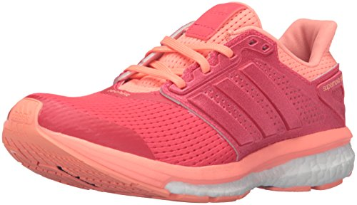 adidas Supernova Glide 8 Womens Running Shoe 7 Shock Red/Sun Glow