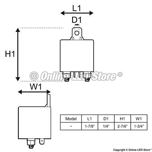 OLS 12V 120 Amp Split Charge Relay Switch 4 Terminal Trucks Marine Boat Relays