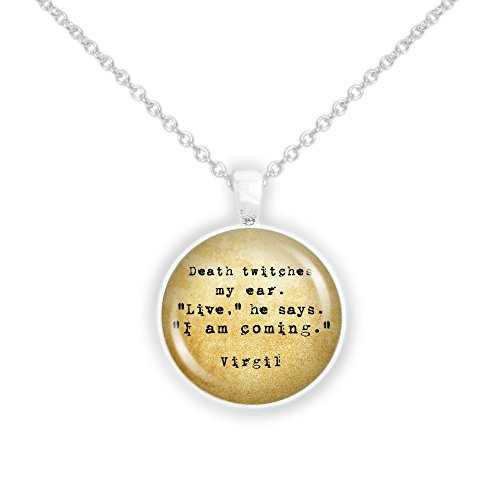 Best deals on twitches necklace products autumns glory death twitches my ear live i am coming virgil quote vintage style 1 pendant necklace in silver tone aloadofball Images