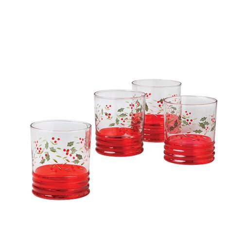 Pfaltzgraff Winterberry 12-Ounce Glasses, Set of 4 (Cooler Winterberry)