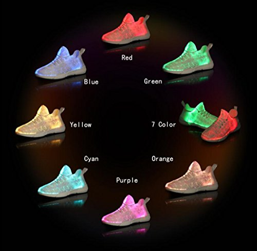 HUSK'SWARE Light White Flashing Teens up Soft Comfortable Led Shoes for Kids Toddlers Sneakers amp; XXqdOr