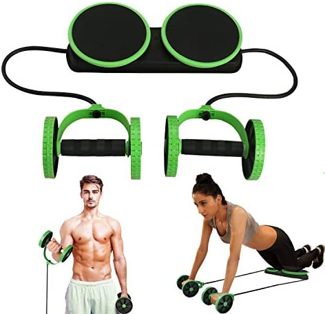 MACUNIN Multi Function Double Ab Roller Wheel,New Version Ab Wheel,Exercise and Fitness Wheel for Home Gym,Abdomen and Arm Workout Equipment Waist Slimming Trainer for Man and Women 1