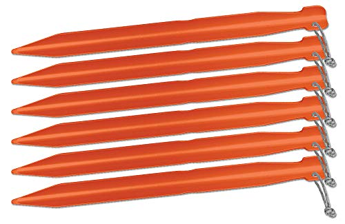 Big Agnes 7in Tent Stakes - 6 Pack, Gold, 7in, ASTAKEPK719 ()