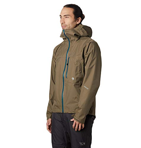 Mountain Hardwear Men's Exposure/2 Gore-TEX Paclite Jacket, Darklands - L