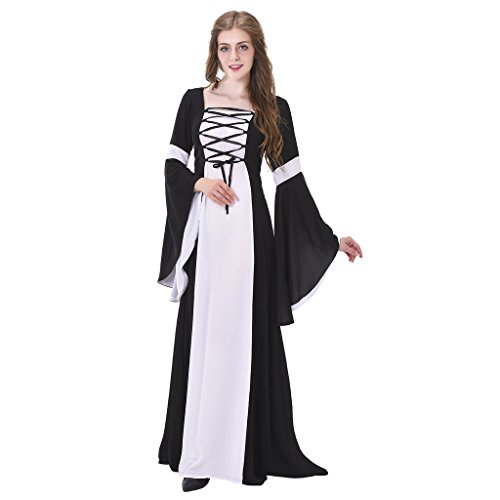 1791's lady Renaissance Medieval Women's Costume Gown Dress (Halloween Costumes Using Little Black Dress)