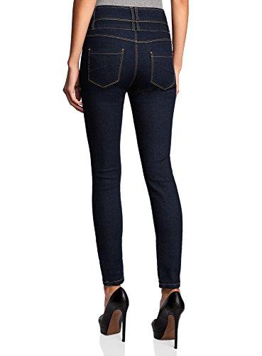 oodji Femme Bleu Taille Jean Haute Skinny 7900w Ultra CpZwqa