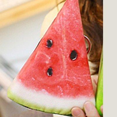 Simulación de fruta Hebao sandía rebanada de juguete suave ...