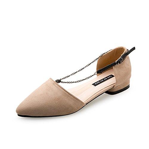 Lateral salida luz punto de zapatos en la primavera/Zapatos de tacón plano/la versión coreana de los zapatos de pala simple comodín C
