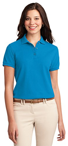 Port Authority L500 Ladies Silk Touch Polo XL Turquoise