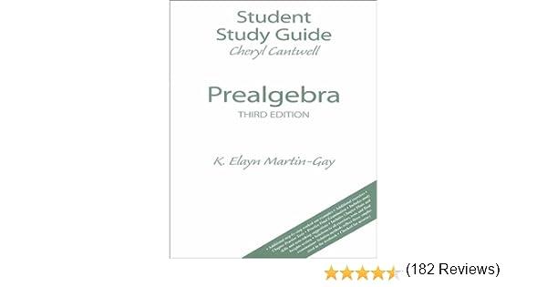 Prealgebra: Cheryl Cantwell, K. Elayn Martin-Gay: 9780130264626 ...