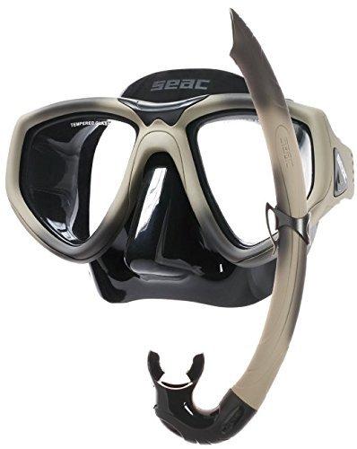 Seac Scuba Diving Snorkeling Freediving Combat Mask Snorkel Set by Seac Sub B0178GQYDA
