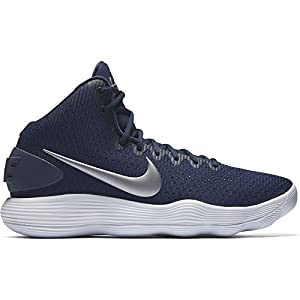 NIKE Men's Hyperdunk 2017 TB Basketball Shoe Midnight Navy/Metallic Silver/White Size 13 M US