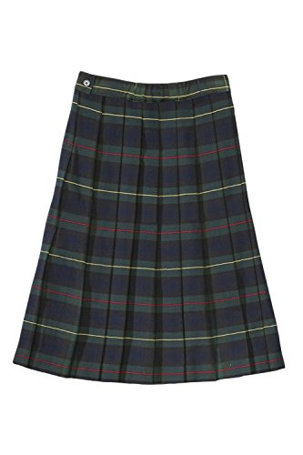 Plaid Girls Skirts Green (French Toast Below The Knee Plaid Pleated Skirt(Size 4-6X/7) Green Plaid 18)