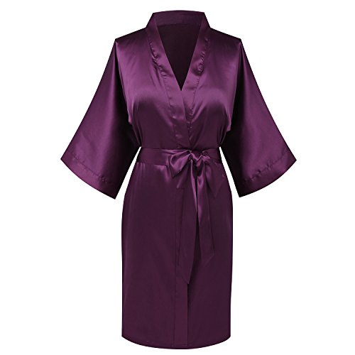 goodmansam Womens Simplicity Stlye Bridesmaid Wedding Party Kimono Robes, Short