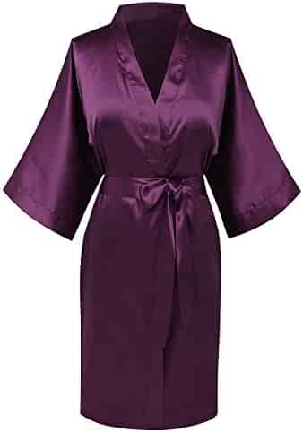 4c963b1f7e goodmansam Women s Simplicity Stlye Bridesmaid Wedding Party Kimono Robes