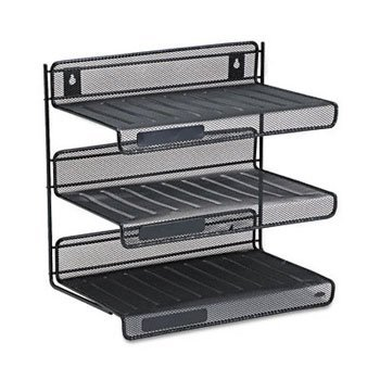 Rolodex™ Mesh Three-Tier Desk Shelf SHELF,3TIER,DSK,MESH,BK (Pack of5)