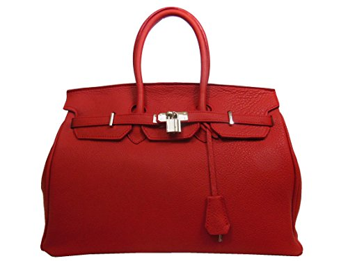 MAIN SAC EN Rouge CUIR À gq5PqvH