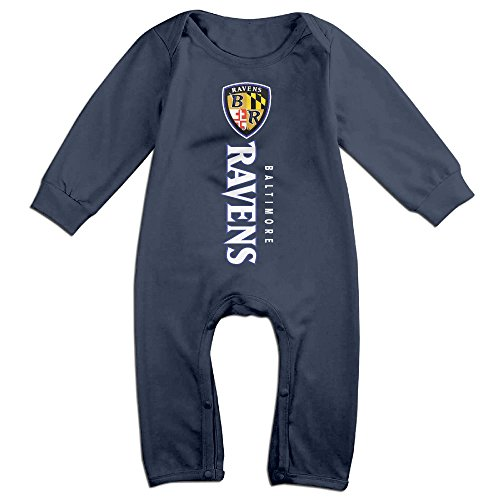 Harbaugh Costume (Dadada Baby's Baltimore Football Team Long Sleeve Outfits 6 M)